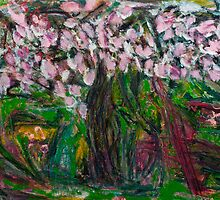Painting: Magnolia Tree by visfineart