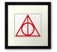 Deathly Hallows red Framed Print