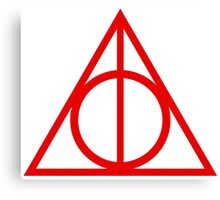 Deathly Hallows red Canvas Print