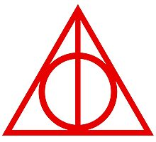 Deathly Hallows red Photographic Print