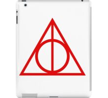 Deathly Hallows red iPad Case/Skin