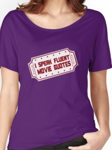I speak fluent movie guotes geek funny nerd Women's Relaxed Fit T-Shirt