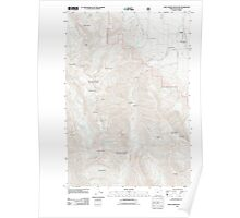 USGS Topo Map Oregon Chief Joseph Mountain 20110824 TM Poster