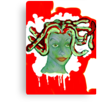medusa: beauty and death Canvas Print