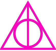 Deathly Hallows pink by rachelshade