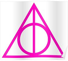 Deathly Hallows pink Poster