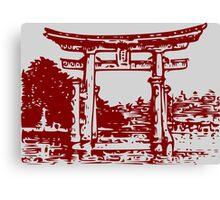 miyajima-torii Canvas Print