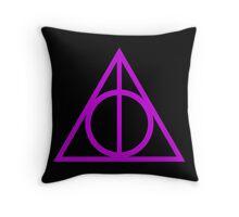 Deathly Hallows purple Throw Pillow