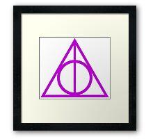Deathly Hallows purple Framed Print