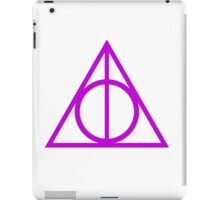 Deathly Hallows purple iPad Case/Skin