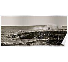 Surfer Silhoutte Poster