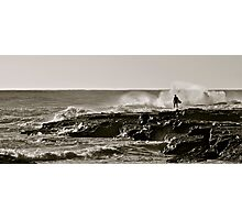 Surfer Silhoutte Photographic Print