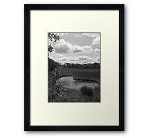 Kidney Pond (Black & White) Framed Print