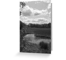 Kidney Pond (Black & White) Greeting Card