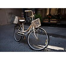 cityscapes #178, bike baskets   Photographic Print