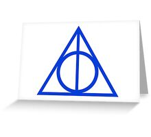 Deathly Hallows blue Greeting Card