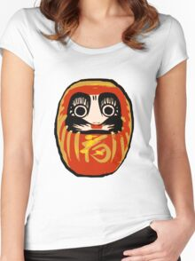 Daruma Doll Women's Fitted Scoop T-Shirt