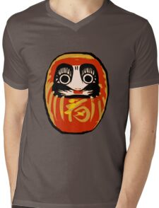Daruma Doll Mens V-Neck T-Shirt
