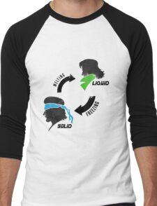 Metal States (dark) Men's Baseball ¾ T-Shirt