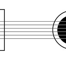 Minimal guitar by Nynke