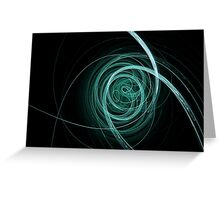 Blue Swirls Greeting Card