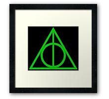 Deathly Hallows green Framed Print