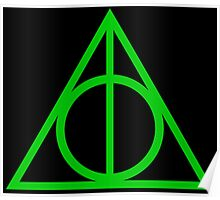 Deathly Hallows green Poster