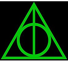 Deathly Hallows green Photographic Print