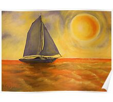 Oil Painting  - Sailboat 2005 Poster