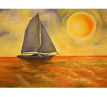 Oil Painting  - Sailboat 2005 Photographic Print