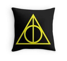 Deathly Hallows yellow Throw Pillow