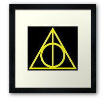 Deathly Hallows yellow Framed Print