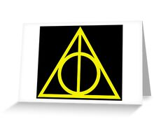 Deathly Hallows yellow Greeting Card
