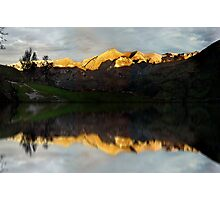 Golden mountains Photographic Print