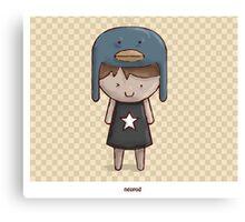 Emo Kawaii Girl Canvas Print