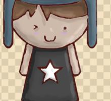 Emo Kawaii Girl Sticker