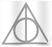 Deathly Hallows grey Poster