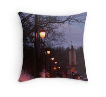 Night Walk Throw Pillow