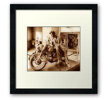 Elvis On A Harley  Framed Print