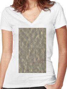 Rustic Metal Panels Texture Background Women's Fitted V-Neck T-Shirt