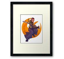 SWR Space Samurai Framed Print