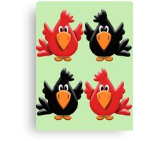 Four Little Birdies  Canvas Print