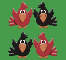 Four Little Birdies  One Piece - Short Sleeve