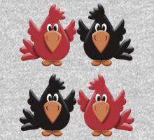 Four Little Birdies  One Piece - Long Sleeve