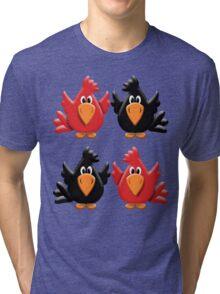 Four Little Birdies  Tri-blend T-Shirt