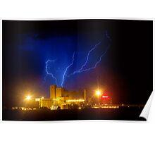 Budweiser Powered by Lightning Poster