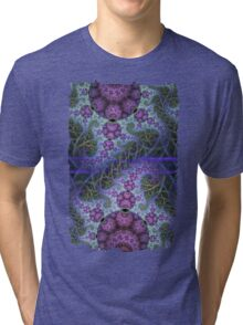 Mobius dragons and other patterns, fractal abstract artwork Tri-blend T-Shirt
