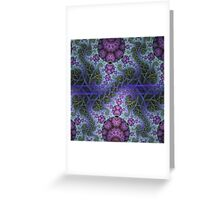 Mobius dragons and other patterns, fractal abstract artwork Greeting Card