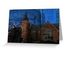 Parker Memorial and Rounded Side Door Blended Greeting Card