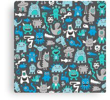 Monsters in Blue Canvas Print